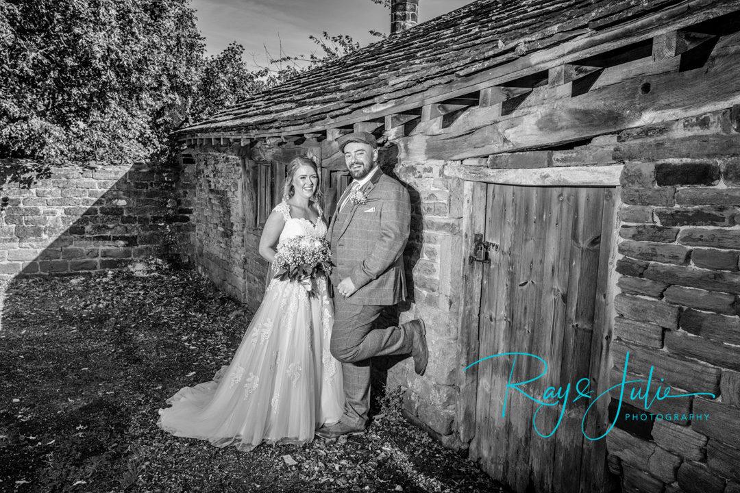 Happy bridal couple portrait