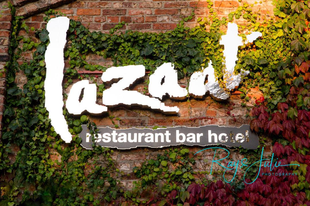Lazaat Hotel sign