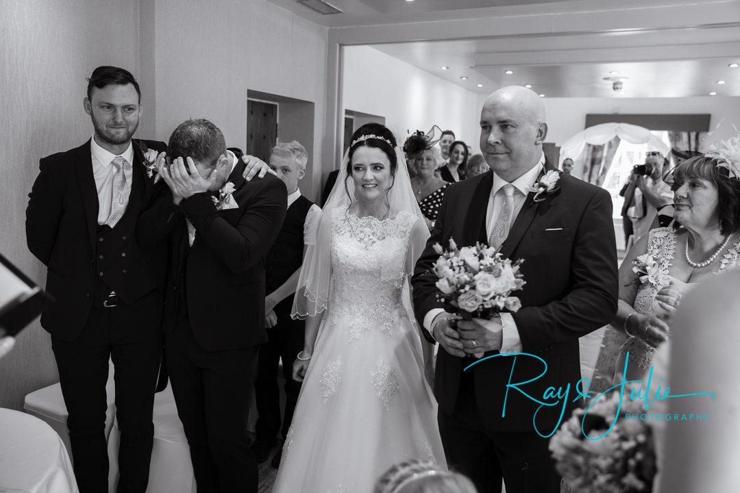 Bride arrival in Saffron suit Lazzat Hotel