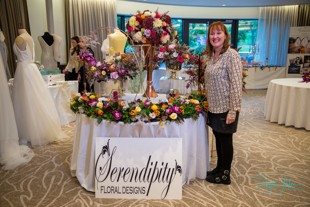 Sally of Serendipity floral designs at Grantley Hall