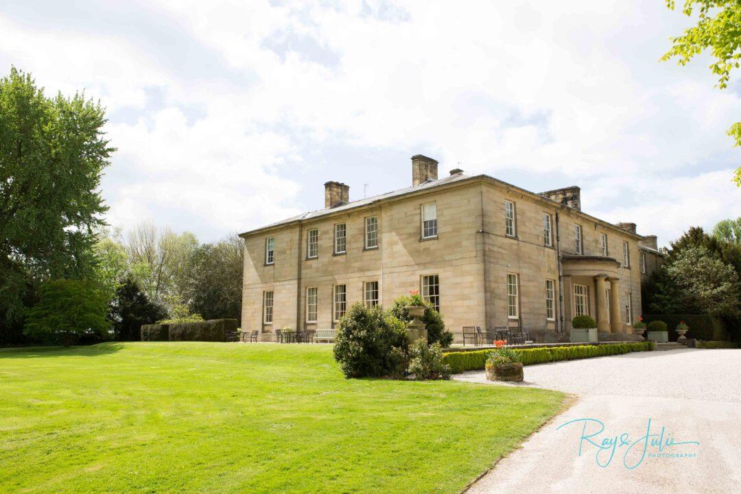 Saltmarshe Hall on a beautiful sunny day