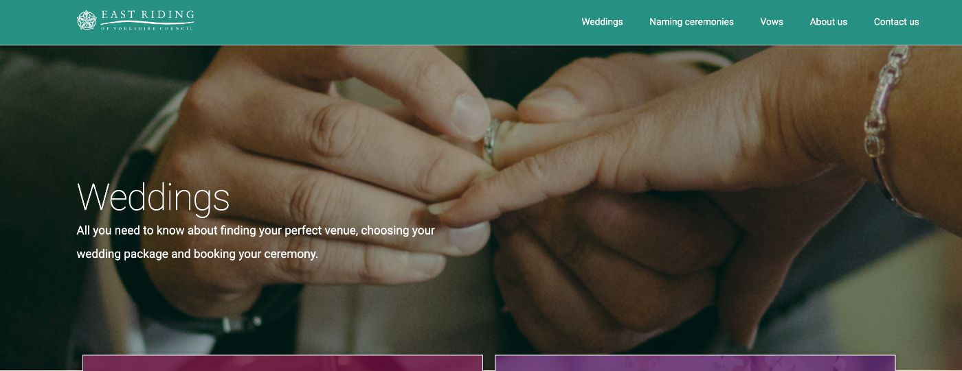 Beverley Registry Office homepage screenshot