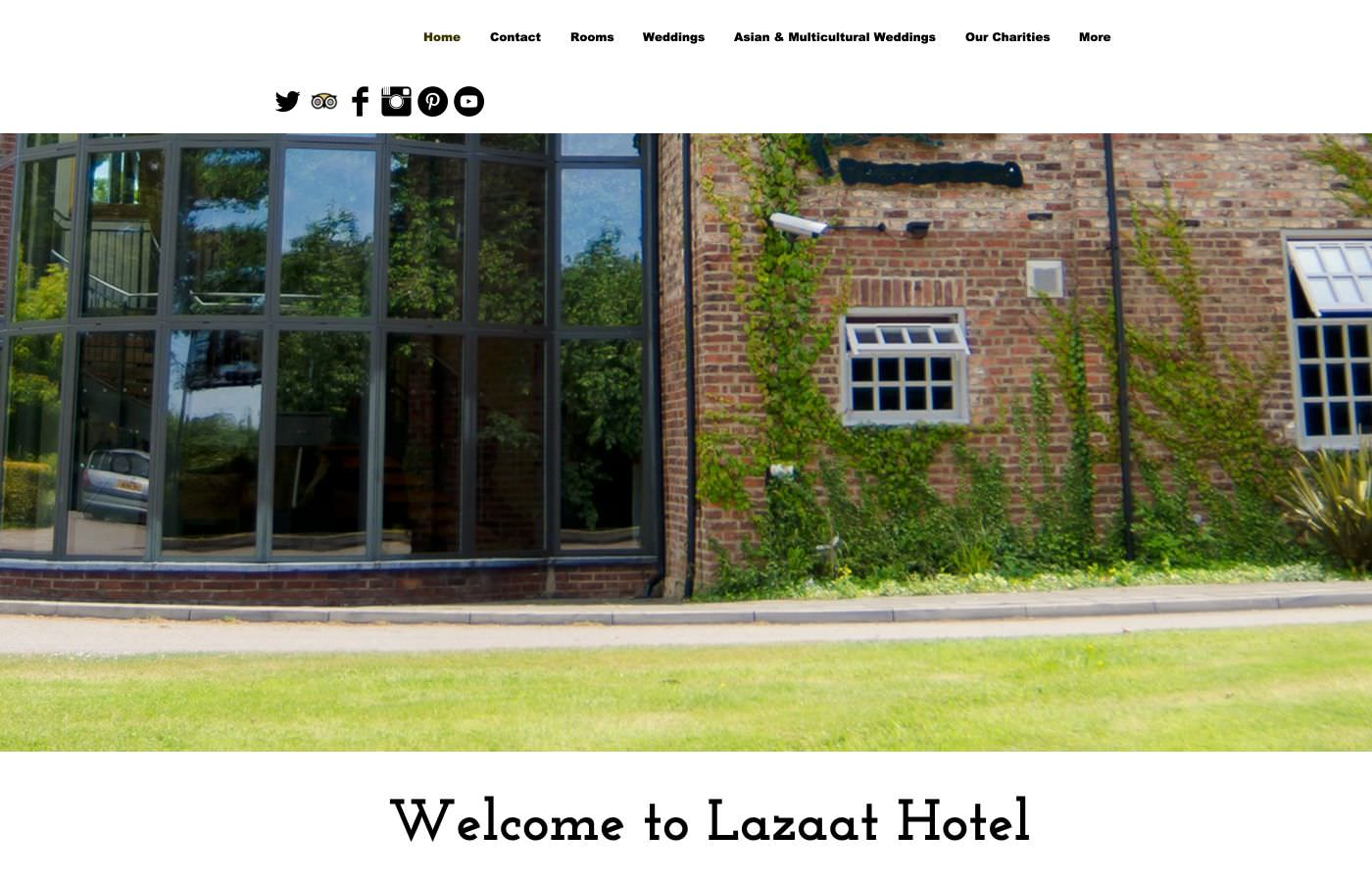 Lazaat website homepage screenshot