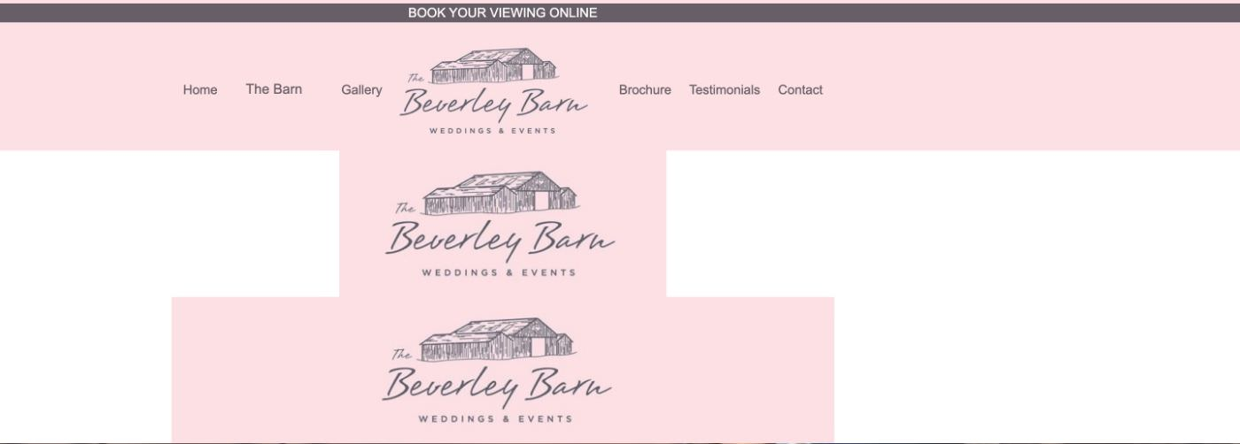 The Beverley Barn homepage screenshot