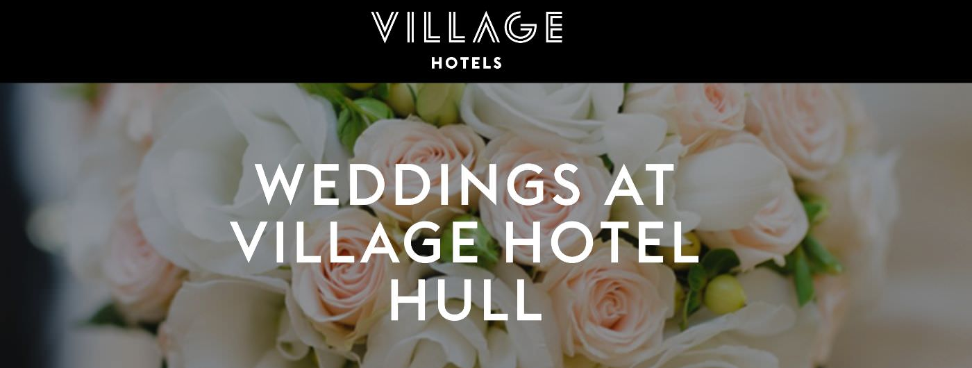 The Village Hull wedding homepage screenshot