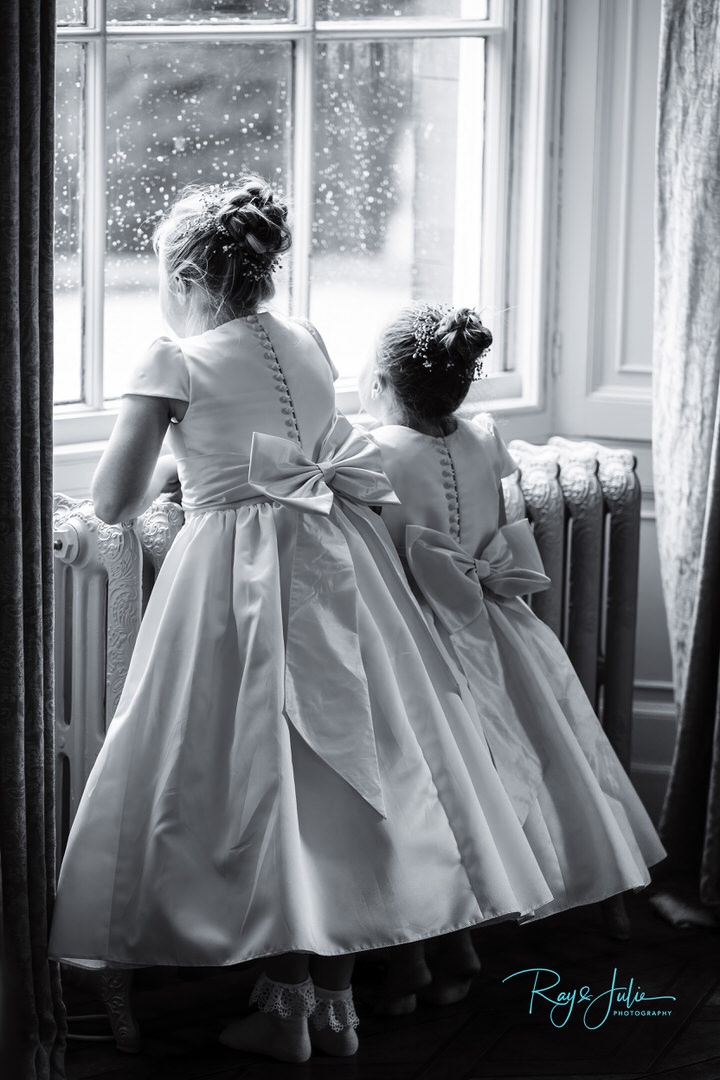 Wedding dress - Bridesmaids - flower girls -Saltmarshe - Hall