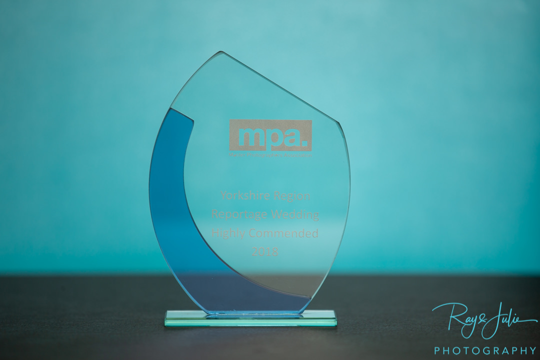Master Photographers Association - Reportage Wedding - Award - Trophy - Highly commended - Award-Winning