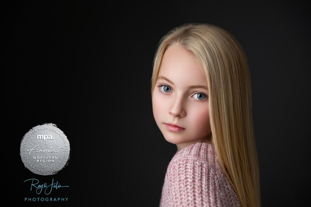 Stunning award winning Yorkshire children's studio portrait photographers