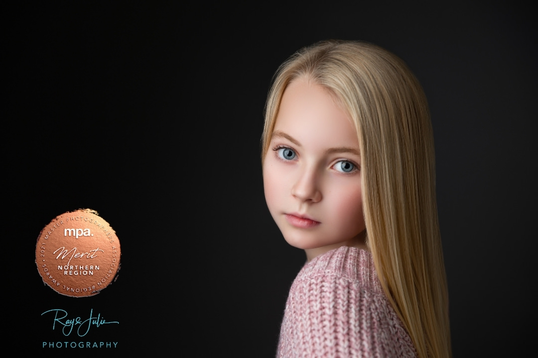 Yorkshire children's award winning photographers studio portrait.