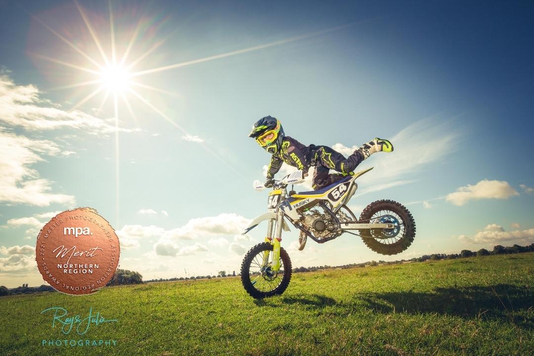 Outdoor motorbike award winning photograph