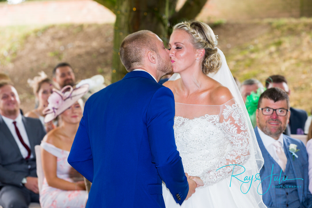 The First Kiss. Captured outdoors at Saltmarshe Hall
