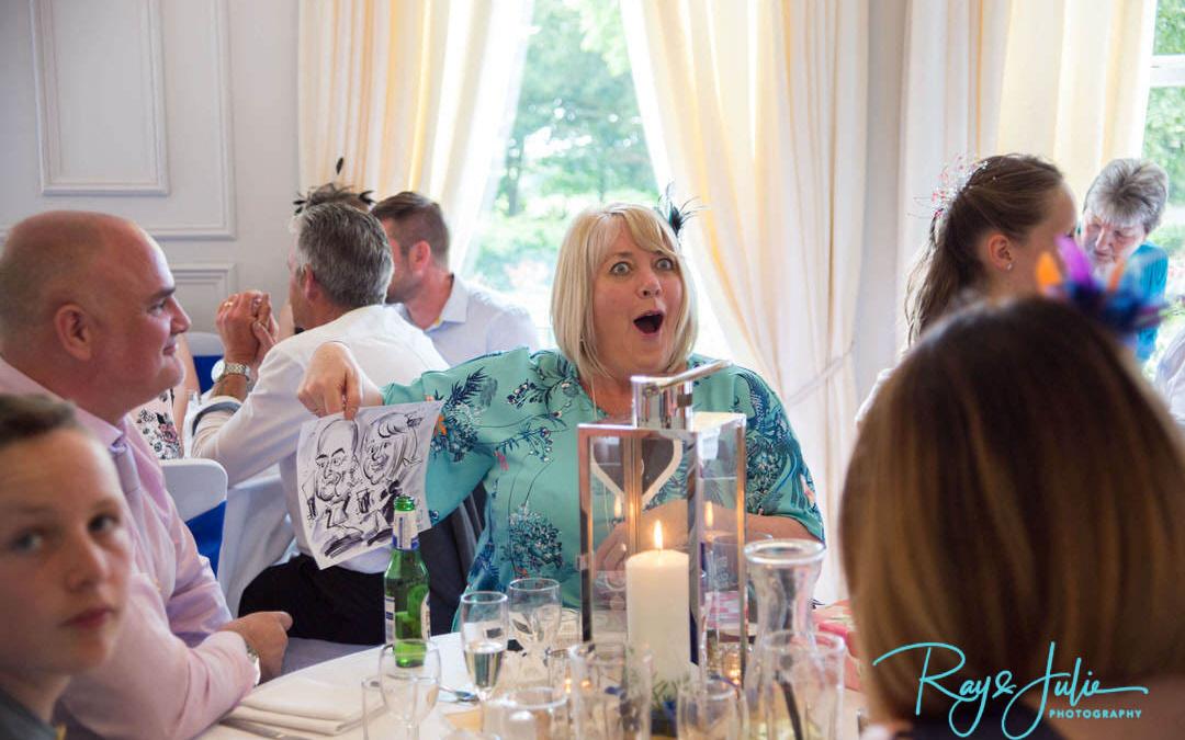 Candid wedding reception photograph
