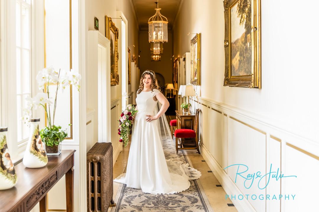 Stunning bride inside Grantley Hall