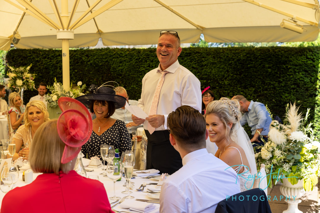 Father of the bride speech at Saltmarshe Hall