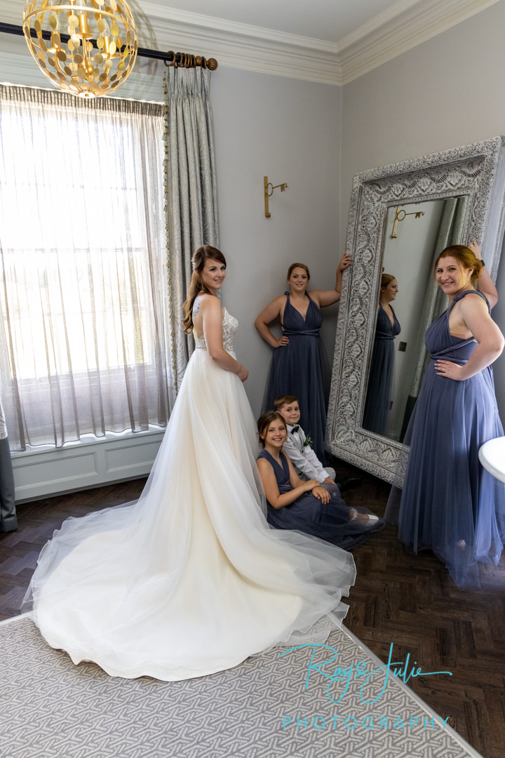 Bridal party in Yorkshire Suite at Saltmarshe Hall