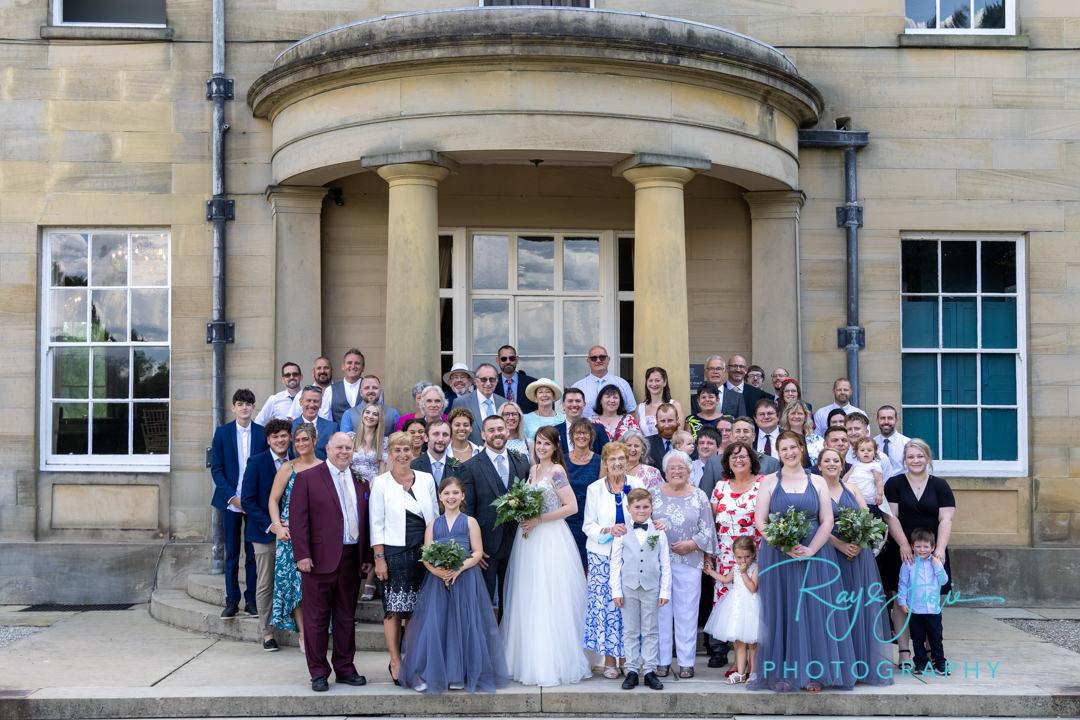 Group photograph outside Saltmarshe Hall