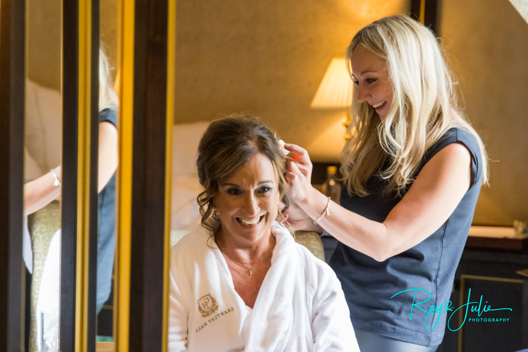 Hair by Dawn Walsh in the Presidential Suit at Grantley Hall