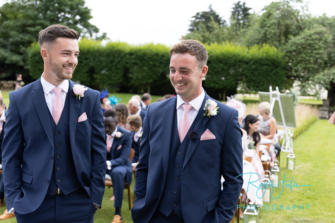 Groom and Brother waiting for the bride to arrive for the start of the wedding ceremony