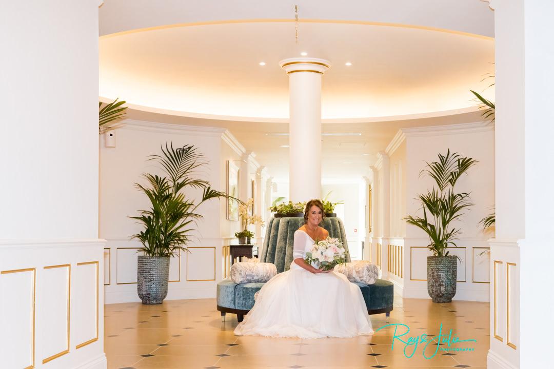 Beautiful bride inside Grantley Hall prior to wedding ceremony