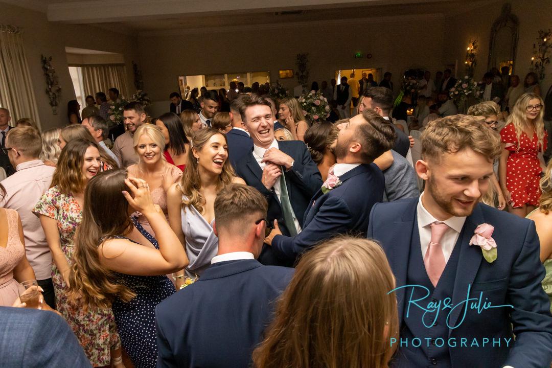 Wedding guests on the dance floor Yorkshire wedding venue
