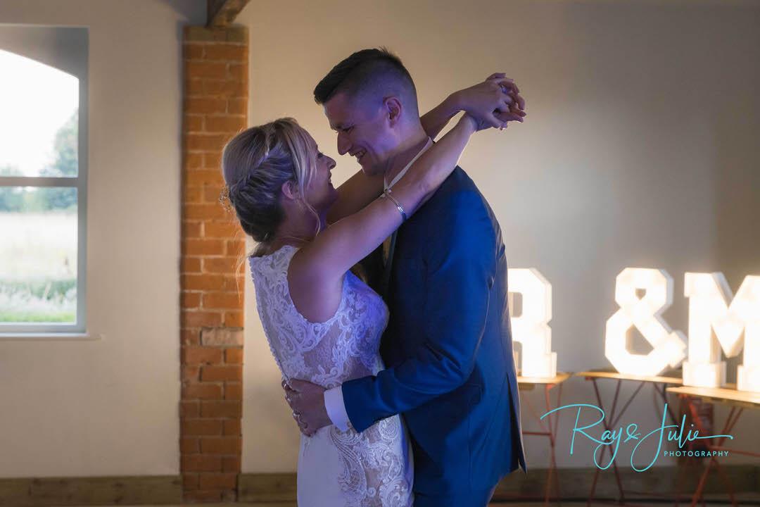 Wedding couple first dance at the Farmstead Tickton Grange Hotel