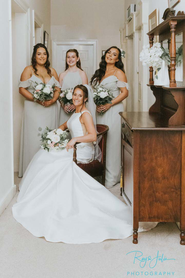 Bride and daughters at East Yorkshire wedding venue