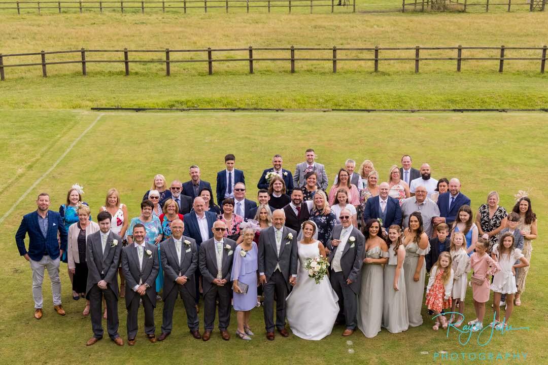 Wedding group photo East Yorkshire wedding venue