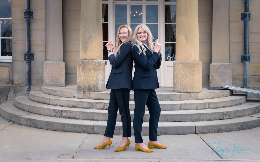 Kate and Ashleigh Saltmarshe Hall Charlies Angels